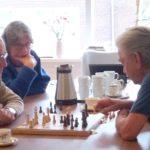 Een spelletje schaak in Odensehuis Andante