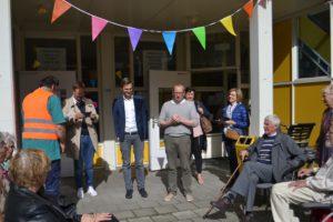 Opening van de Boodschappenroute heeft Maarten van Ooijen, gemeenteraadslid met fractievoorzitter ChristenUnie Utrecht